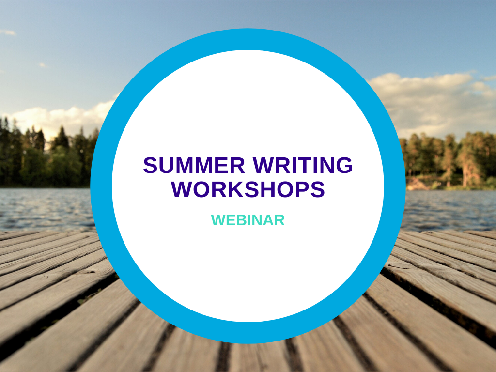 Summer Writing Workshops webinar header